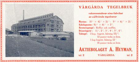 Wårgårda Herrgård gamla tegelbruket